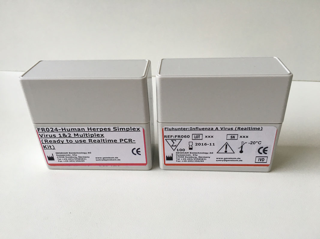 PCR-kits for Influenza herpes simplex virus